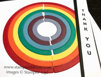 Rainbow Builder Framelits Dies, Vertica Greetings, Stampin' Up!, Brian King