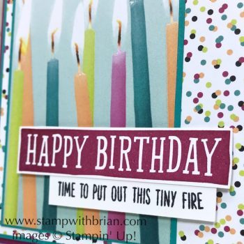 Birthday Wit, Birthday Banners, Stampin' Up!, Brian King, fun birthday card