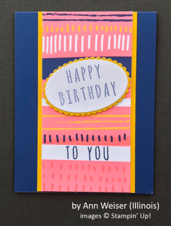 by Ann Weiser, Stampin' Up!, Spring One-for-One Swap