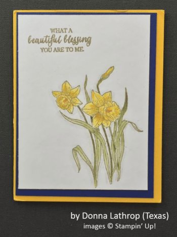 by Donna Lathrop, Stampin' Up!, Spring One-for-One Card Swap
