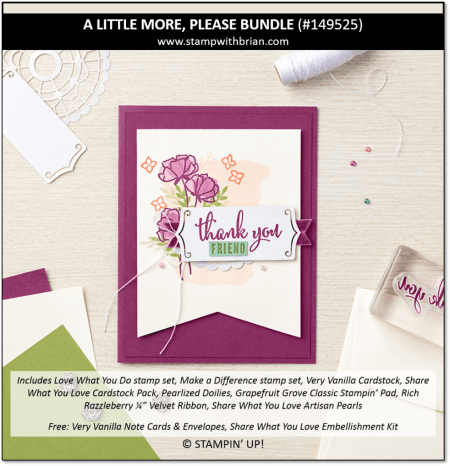 A Little More Please Bundle, Stampin' Up! 149525