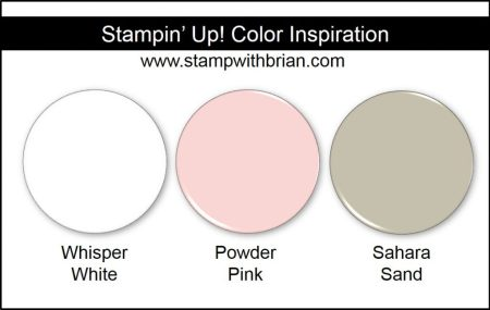 Stampin' Up! Color Inspiration: Whisper White, Powder Pink, Sahara Sand