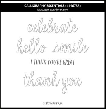 Calligraphy Essentials, Stampin' Up!, 146783