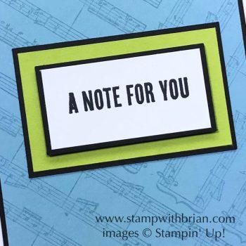 Sheet Music, Wood Words, Stampin' Up!, Brian King, GDP139