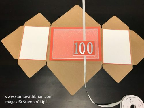 Step 3 - Explosion Fold Card with Envelope Punch Board, Stampin' Up!, Brian King