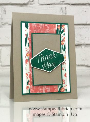 Accented Blooms, Garden Impressions Designer Series Paper, Stampin' Up!, Brian King, thank you card, GDP144