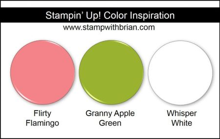 Stampin' Up! Color Inspiration: Flirty Flamingo, Granny Apple Green, Whisper White