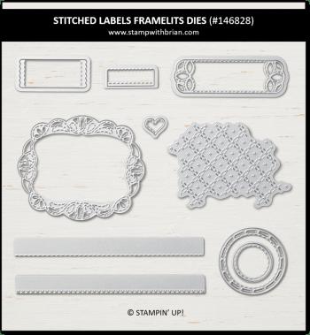 Stitched Labels Framelits Dies, Stampin' Up!, 146828