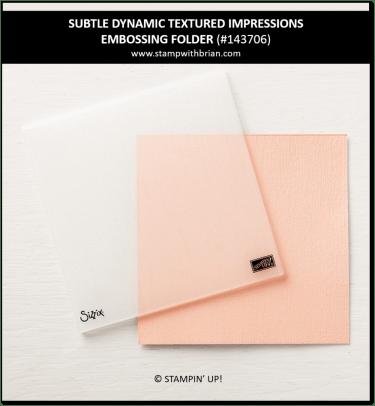 Subtle Dynamic Textured Impressions Embossing Folder, Stampin' Up! 143706