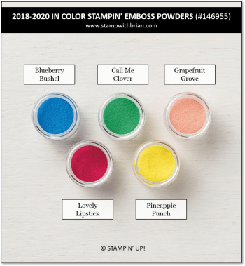 2018-2020 In Color Stampin' Emboss Powders, Stampin' Up!, 146955