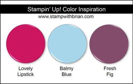 Stampin' Up! Color Inspiration: Lovely Lipstick, Balmy Blue, Fresh Fig