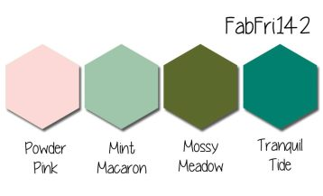 Stampin' Up! Color Inspiration: Powder Pink, Mint Macaron, Mossy Meadow, Tranquil Tide
