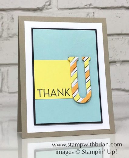 One Big Meaning, Large Letters Framelits Dies, Stampin' Up!, Brian King, CTS279, thank you card