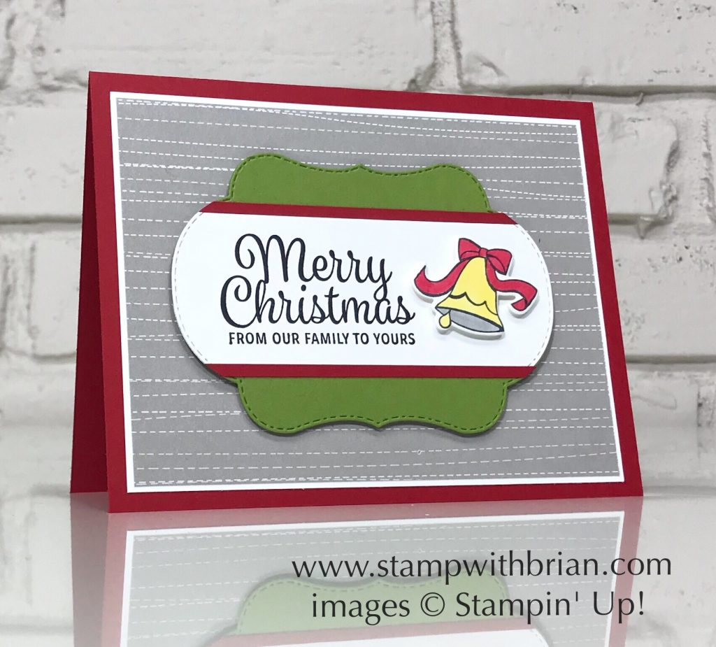 Merry Christmas With Blended Seasons Stamp With Brian