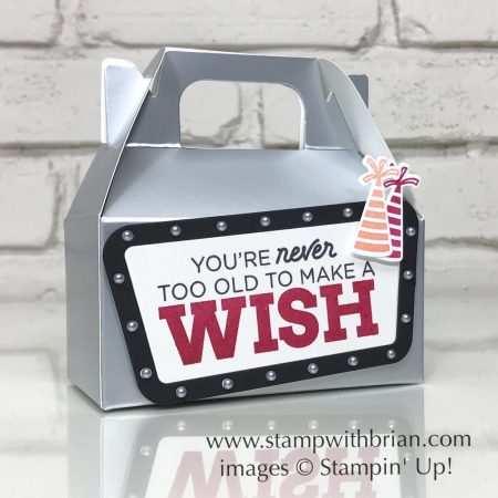 Broadway Birthday Bundle, Silver Gable Box, Stampin' Up!, Brian King