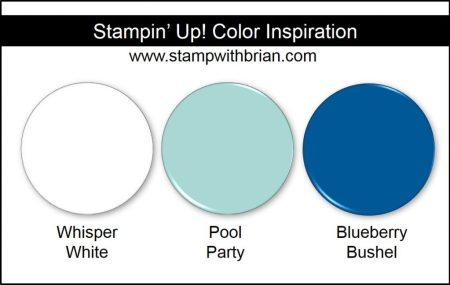 Stampin' Up! Color Inspiration: Whisper White, Pool Party, Blueberry Bushel