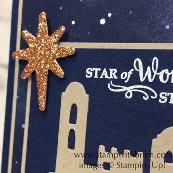 Bethlehem Edgelits Dies, Star of Light, Stampin' Up!, Brian King