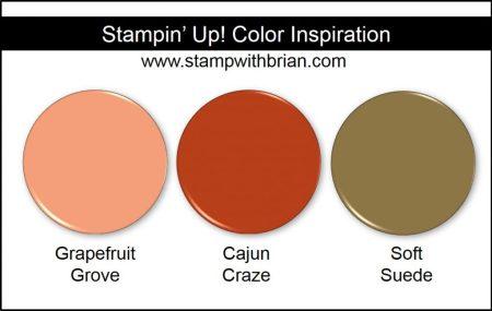 Stampin' Up! Color Inpsiration: Grapefruit Grove, Cajun Craze, Soft Suede