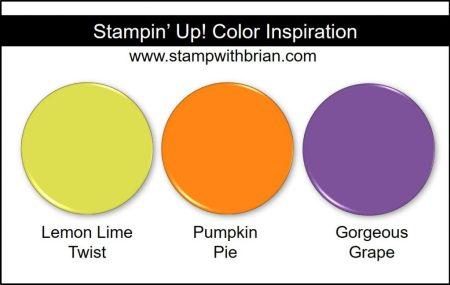 Stampin' Up! Color Inspiration: Lemon Lime Twist, Pumpkin Pie, Gorgeous Grape