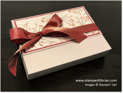 Card Box for Stampin' Up! Note Cards, Brian King