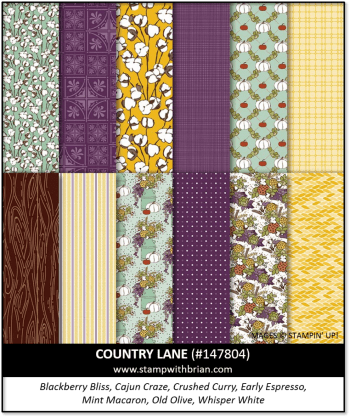 Country Lane Designer Series Paper, Stampin' Up! 147804
