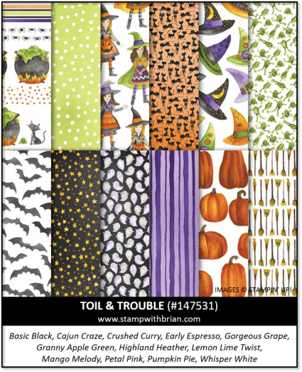 Toil & Trouble Designer Series Paper, Stampin' Up! 147531