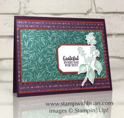 A Big Thank You, Frosted Floral Specialty Designer Series Paper, Stampin' Up!, Brian King