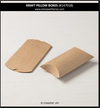Kraft Pillow Boxes, Stampin' Up!, 147018