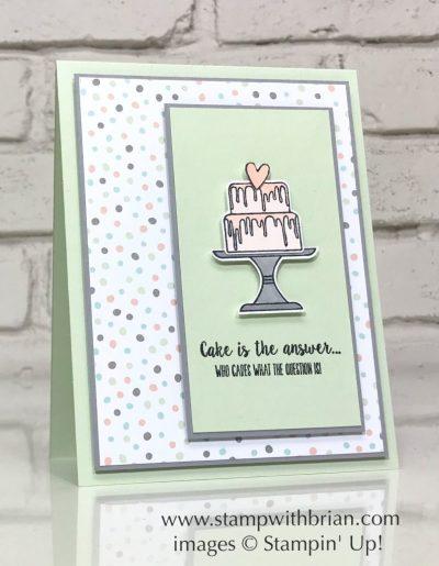Piece of Cake Bundle, Stampin' Up!, Brian King, birthday card
