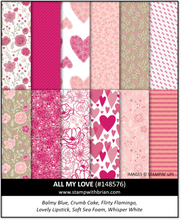 All My Love Designer Series Paper, Stampin' Up! 148576