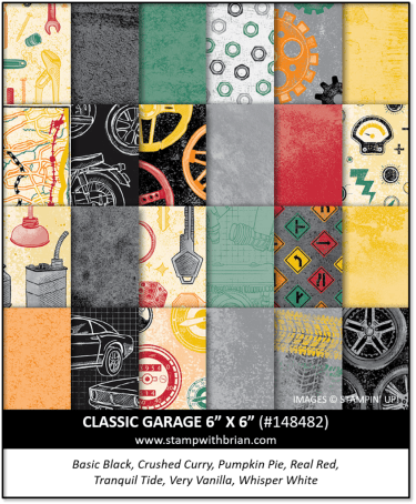 Classic Garage 6 x 6 Designer Series Paper, Stampin' Up! 148482
