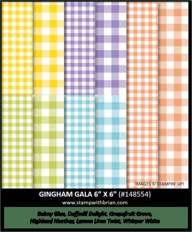 Gingham Gala 6 x 6 Designer Series Paper, Stampin' Up! 148554