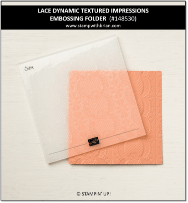 Lace Dynamic Textured Impressions Embossing Folder, Stampin' Up!, 148530