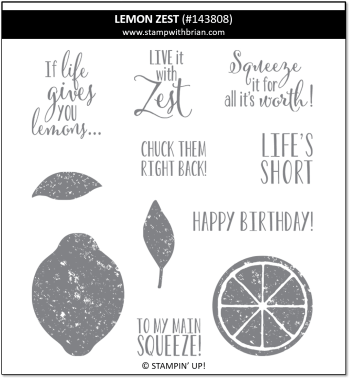 Lemon Zest, Stampin' Up! 143808