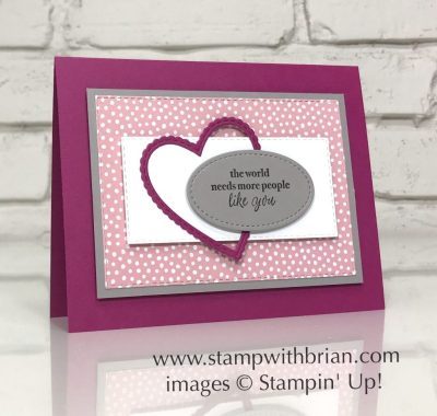 Part of My Story, Be Mine Stitched Framelits Dies, Rectangle Stitched Framelits Dies, Stitched Shapes Framelits Dies, Stampin' Up!, Brian King, Valentine's Day