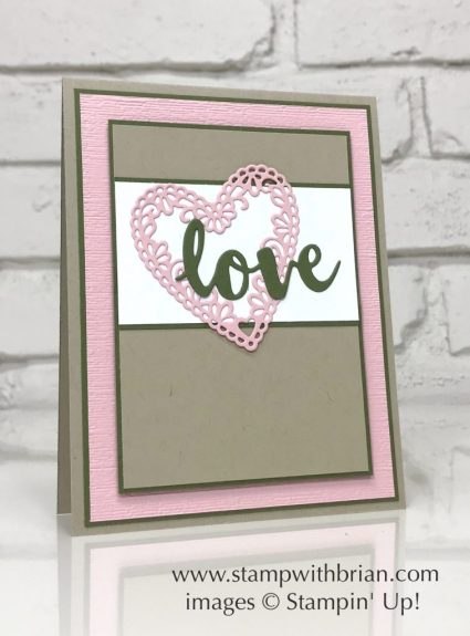 Sunshine Wishes Thinlits, Be Mine Stitched Framelits Dies, Stampin' Up!, Brian King, Valentine's Day card