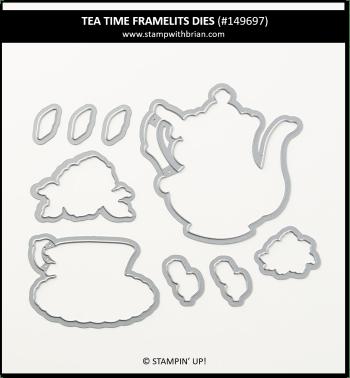 Tea Time Framelits Dies, Stampin' Up! 2019 Sale-a-Bration 149697