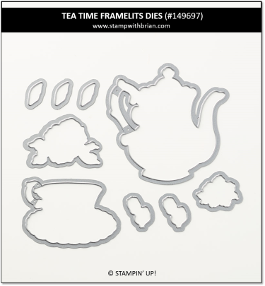 Tea Time Framelits Dies, Stampin' Up! 2019 Sale-a-Bration 149697