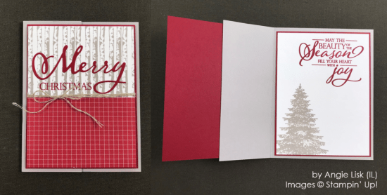 by Angie Lisk, Stampin' Up! One-by-One Holiday Card Swap