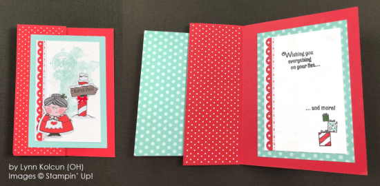 by Lynn Kolcun, Stampin' Up! One-by-One Holiday Card Swap