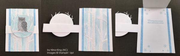 by Nina King, Stampin' Up! One-by-One Holiday Card Swap