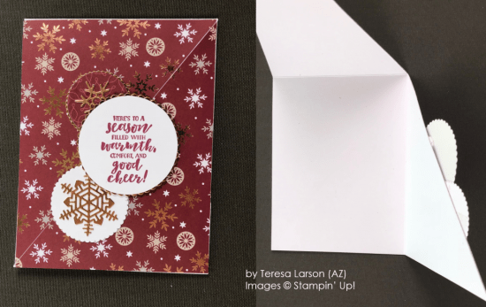 by Teresa Larson, Stampin' Up! One-by-One Holiday Card Swap