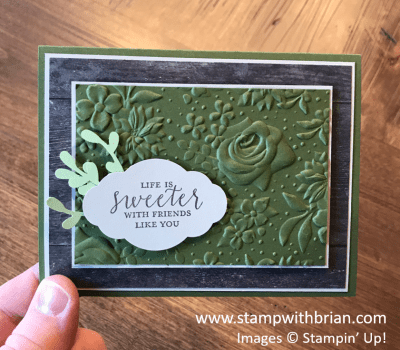 Country Floral Dynamic Textured Impressions Embossing Folder, Detailed with Love, Stampin' Up!, Brian King