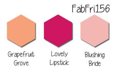Stampin' Up! Color Inspiraion: Grapefruit Grove, Lovely Lipstick, Blushing Bride