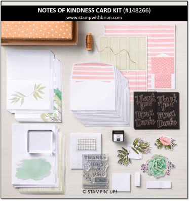 Notes of Kindness Card Kit, Stampin' Up! 148266