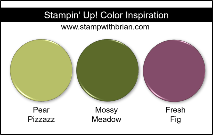 Stampin' Up! Color Inspiration - Pear Pizzazz, Mossy Meadow, Fresh Fig