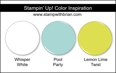 Stampin' Up! Color Inspiration - Whisper White, Pool Party, Lemon Lime Twist