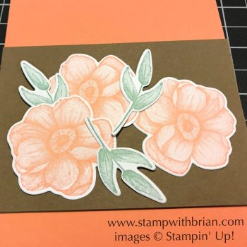 arranging flowers on a card, Painted Seasons, Stampin' Up!, Brian King