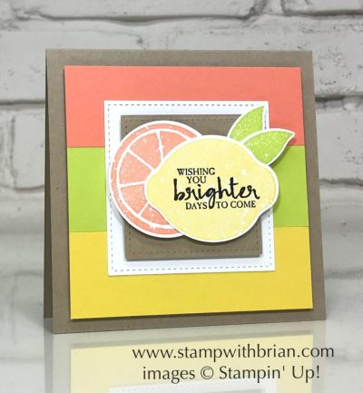 Lemon Zest, Beautiful You, Stampin' Up!, Brian King, pick-me-up card