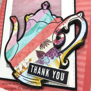 Tea Together, Tea Time Framelits Dies, Rectangle Stitched Framelits, Stampin' Up!, Brian King